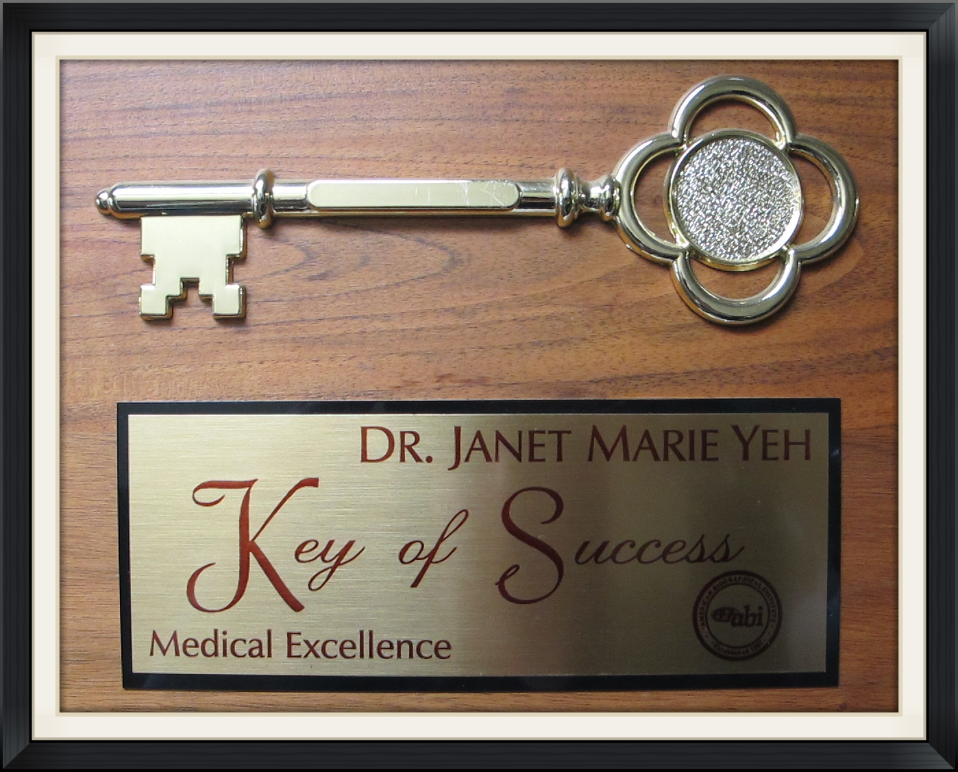 Medical Excellence Dr. Janet Yeh