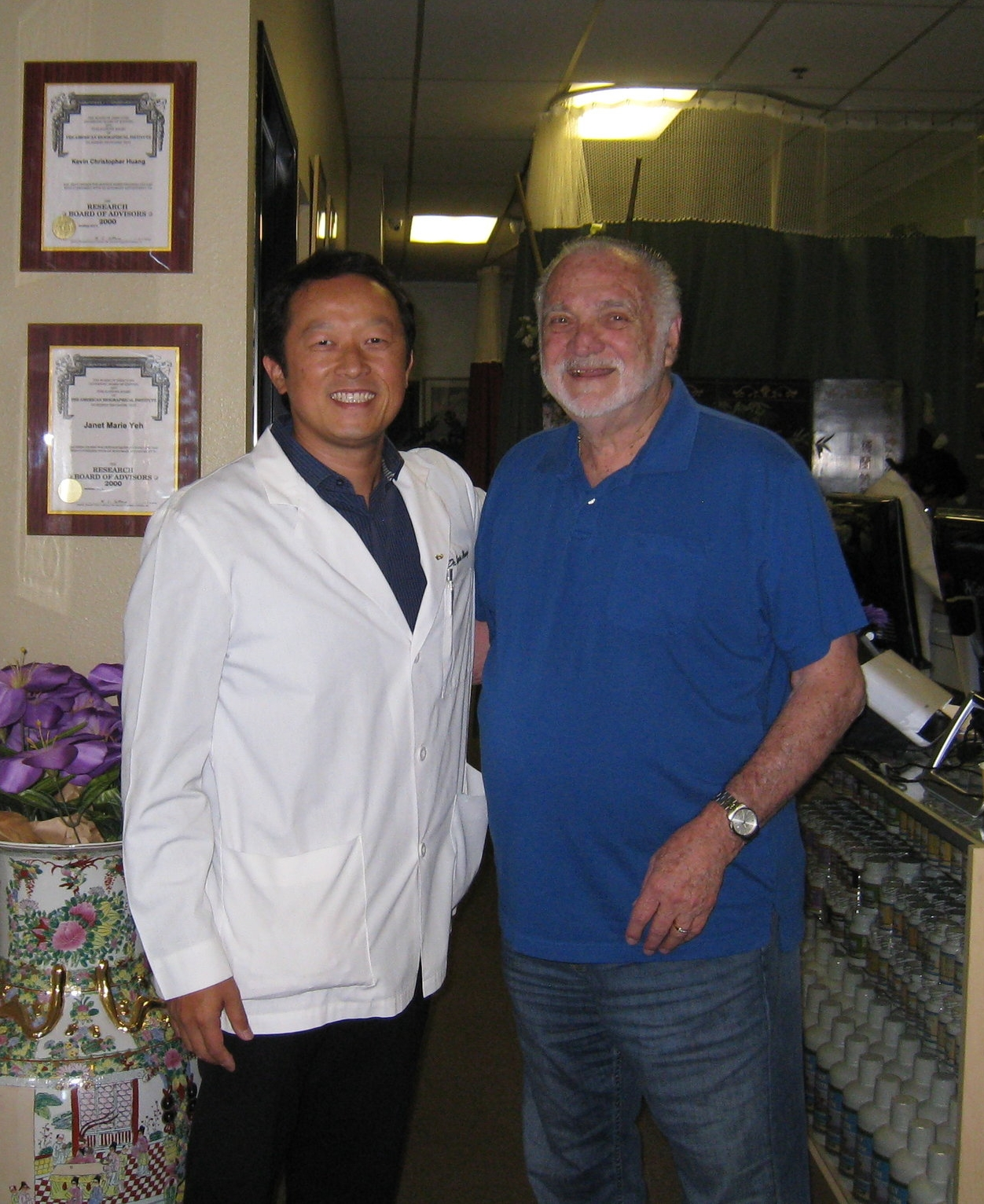 I WOULD REFER EVERYONE AND ANYONE BECAUSE OF THE RESULTS   SHINGLES PAIN AND NUMBNESS WAS CONSTANT   ACUPUNCTURE, HERBS, NUTRITION    I did whatever Dr. Huang told me to do and it resolved the pain and numbness. They accomplished what medical doctors couldn't and I'm satisfied with the results. I started making progress within a month.
