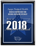 Agape Natural Health is among a very small group of companies that have won the Best of Orange County Award for ten consecutive years. | AWARDED BEST MEDICAL ACUPUNCTURIST AND HERBAL SPECIALIST | ORANGE COUNTY NEWPORT BEACH
