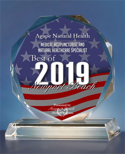 Best of Orange County Award 2019 Agape Natural Health