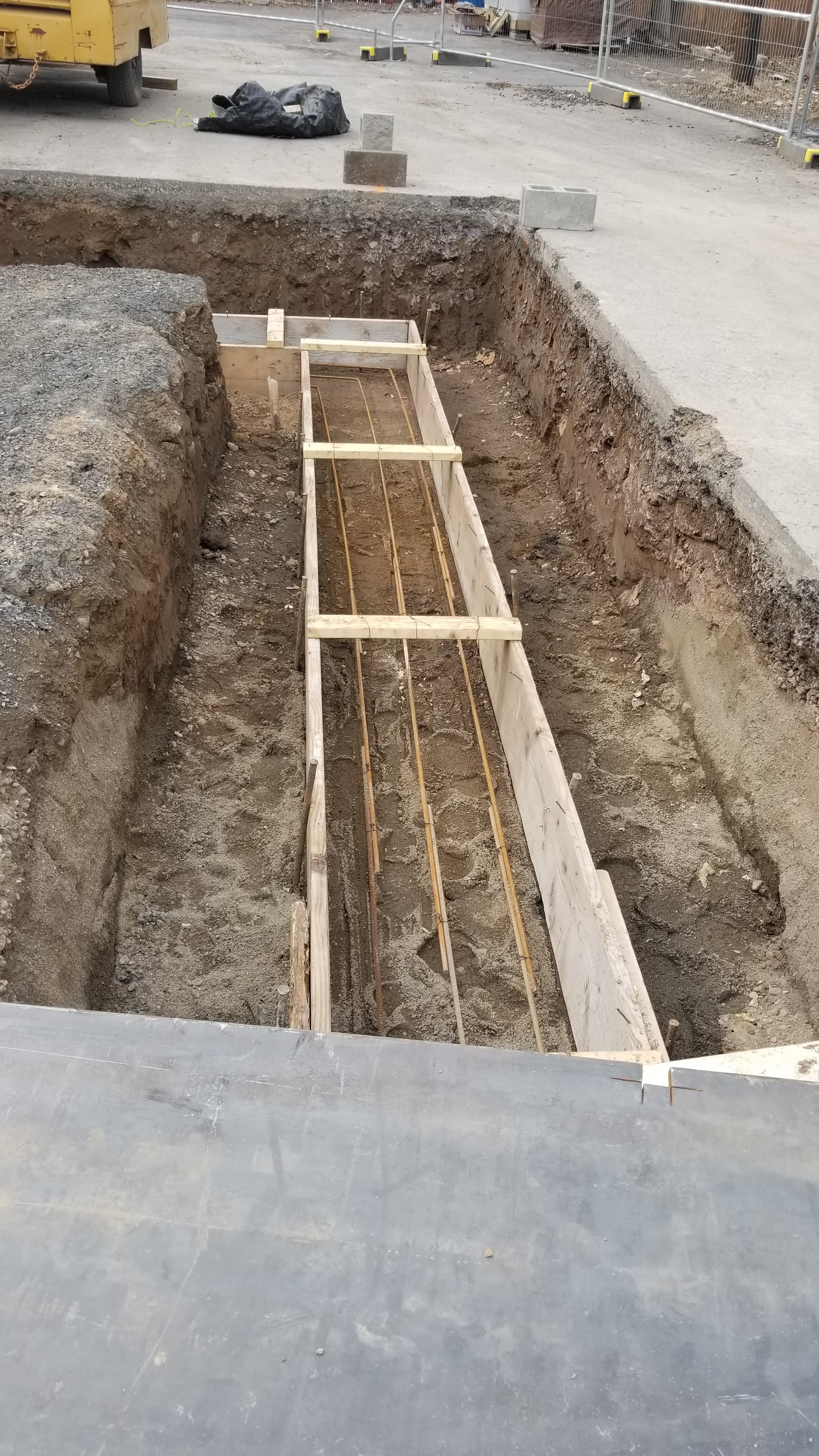 Phase 2: Dig of for foundation of loading dock