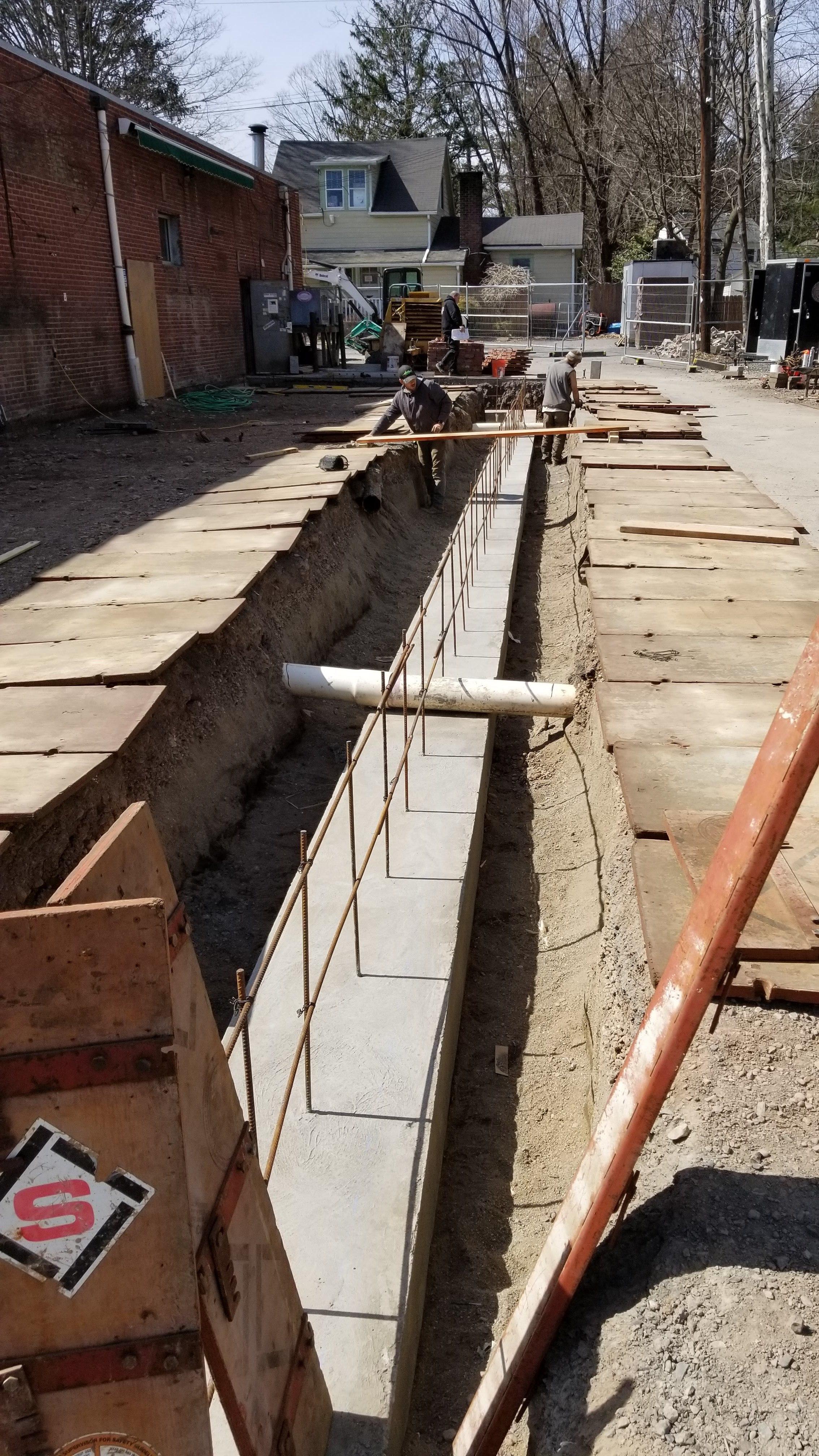 Phase 2:  Setting rebar for foundation of loading dock