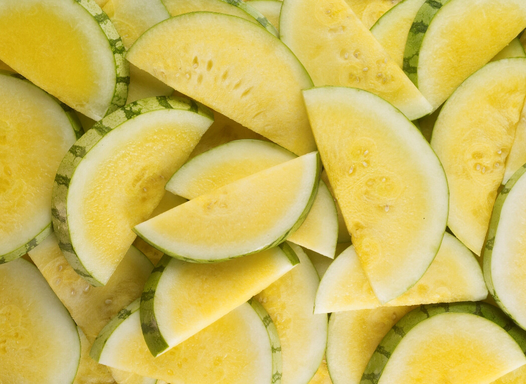 Organic Yellow Mini Seedless Watermelon