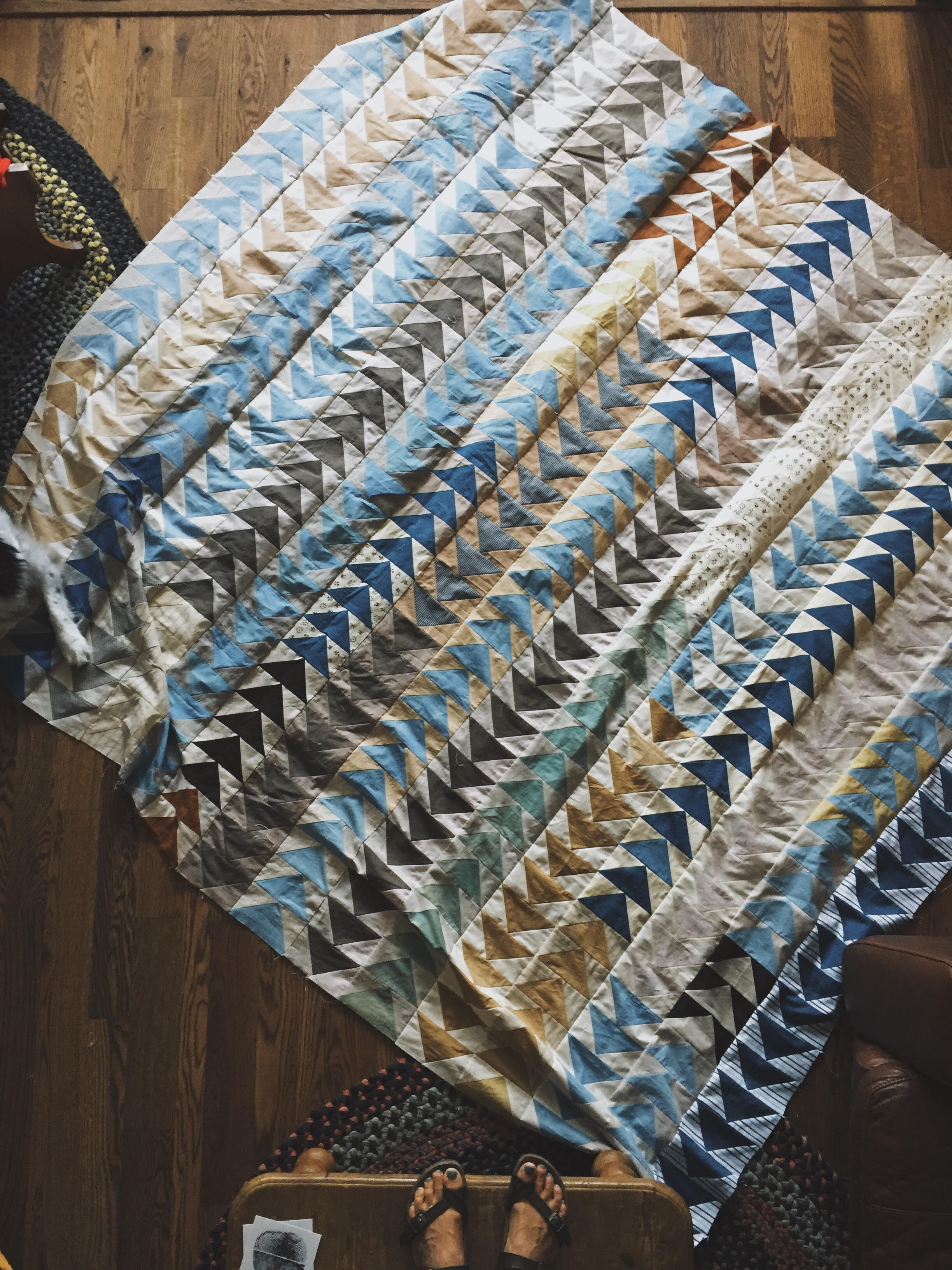 king sized flying geese quilt