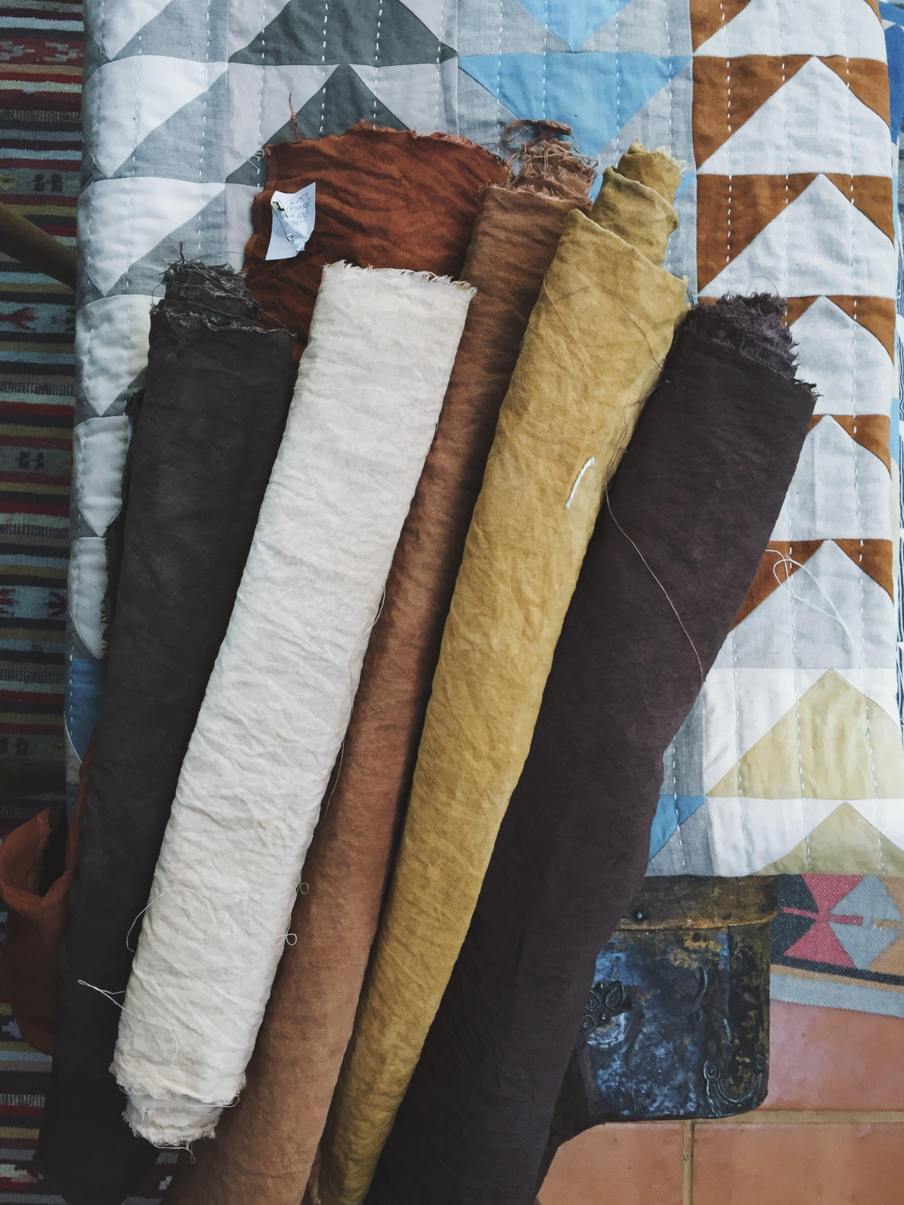 naturally dyed earthy hues