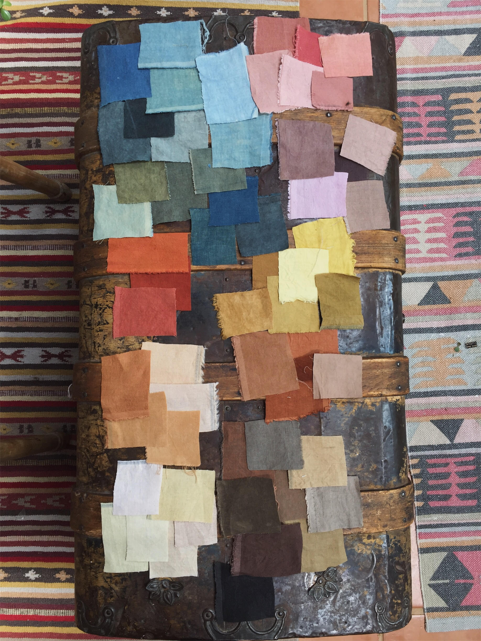 The palette I created over last summer. The broadest palette I've achieved yet, and the first success I had with a true black.