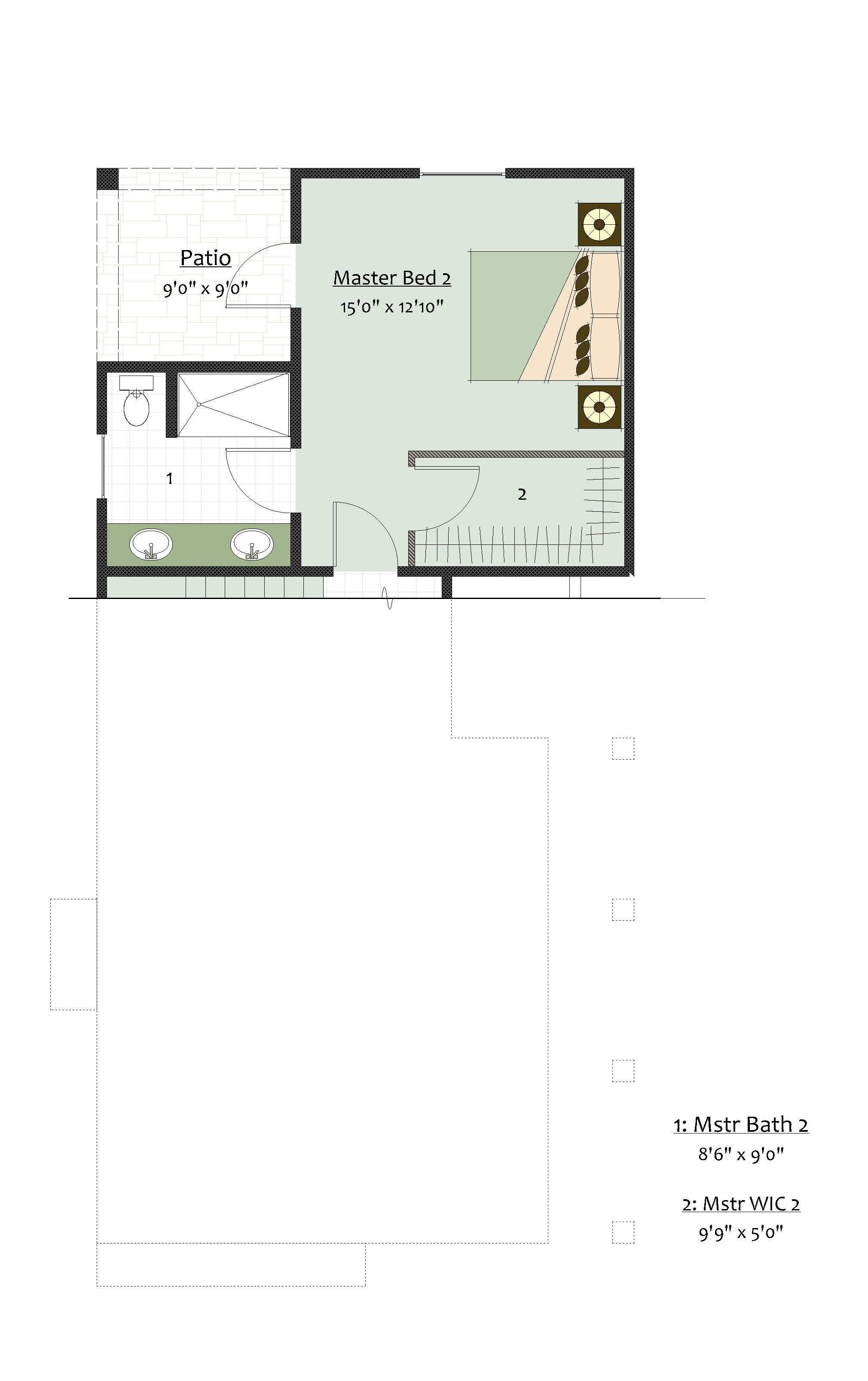 Level 1 Master Suite Option