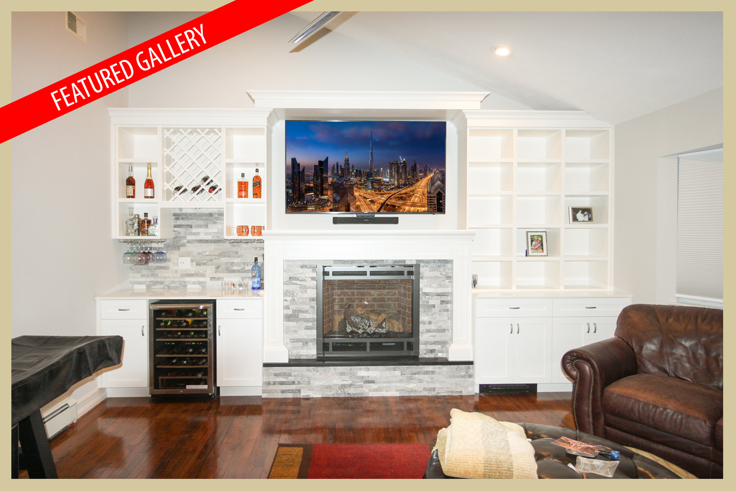 Interiors - Bradner Custom Built-in Fireplace
