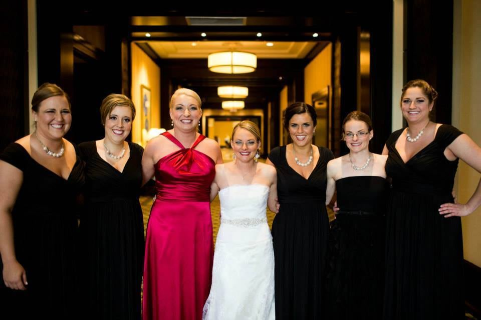 Jen and her bridal party