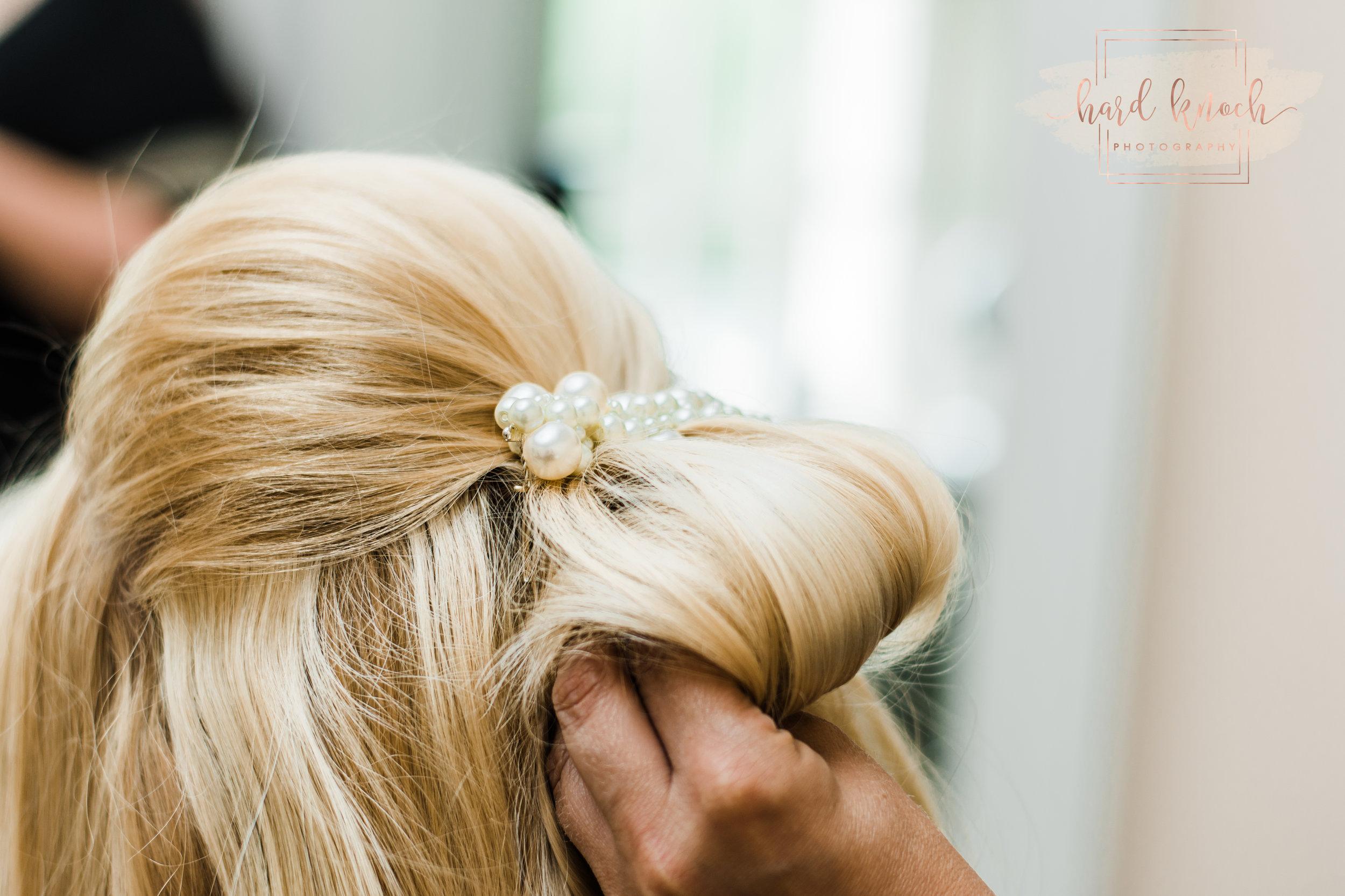 Custom vintage pearl comb