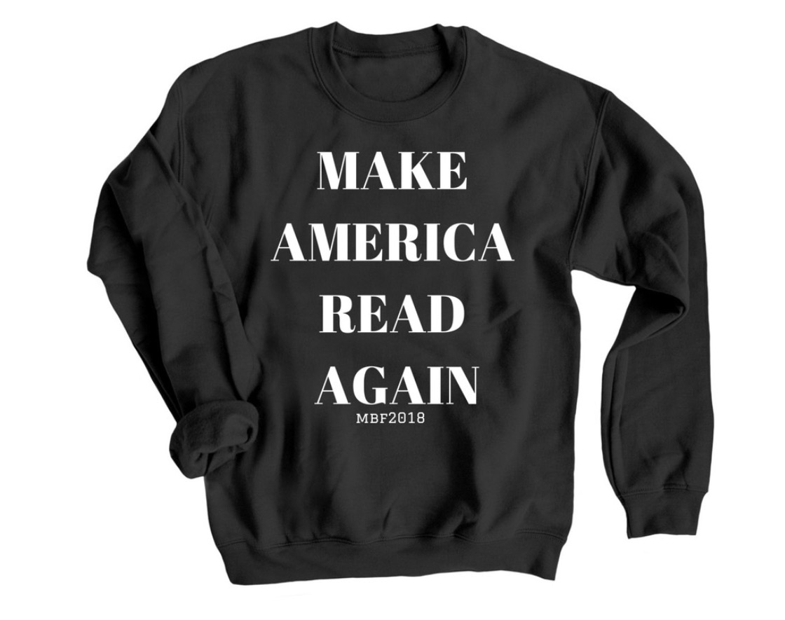 These amazingly soft and cozy shirts are available for a very limited time. There are multiple styles,many colors and even children's sizes for purchase.100% of proceeds go to support Montana Book Festival 2018. -