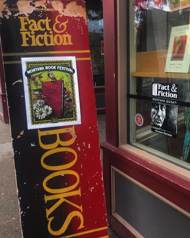 "Today's the day!! Author check-in starts at 10 AM at Fact & Fiction, first event is ""The Landscape of Family,"" 1:00 at the Missoula Art Museum. Can't wait! #montanabookfestival2019"