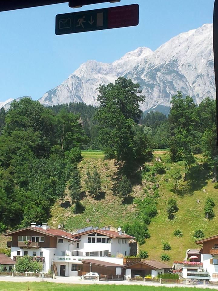 Tårhindrande berg i Österrike.