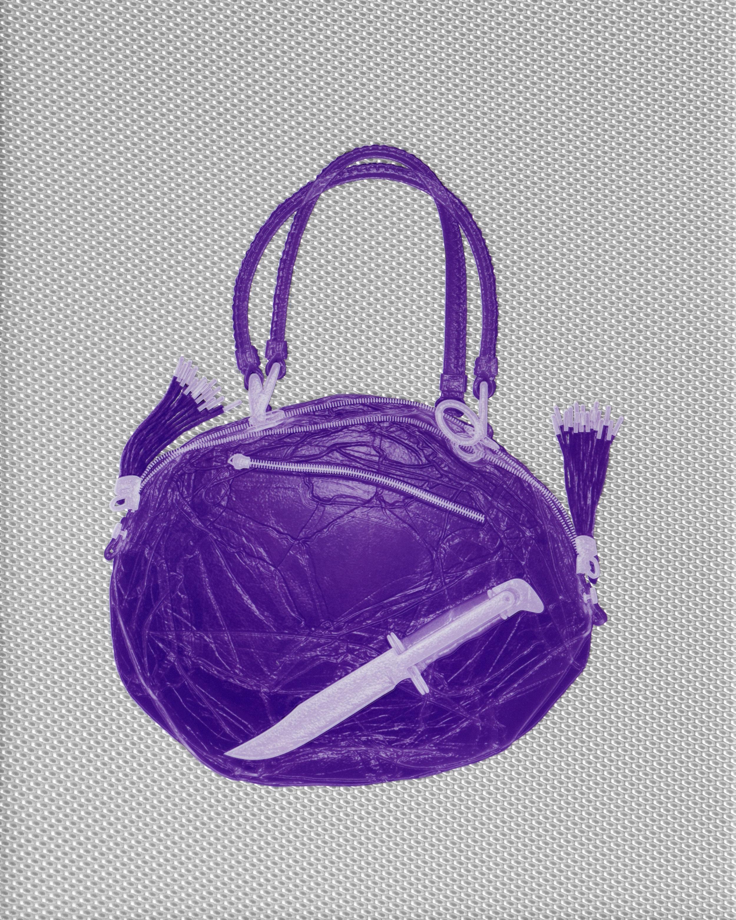 Purple Bikkemberg Handbag With Knife