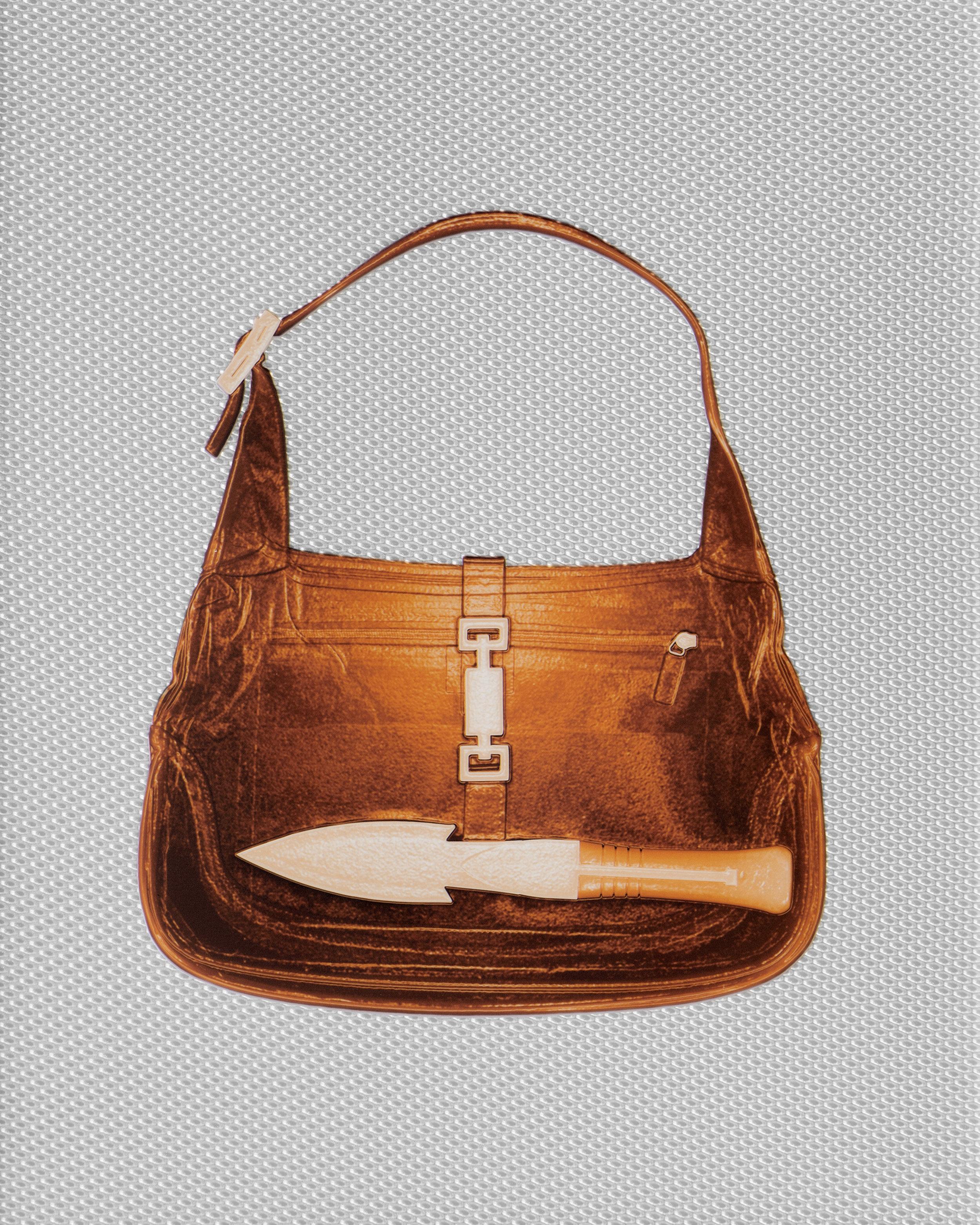 Amber Gucci Handbag With Knife