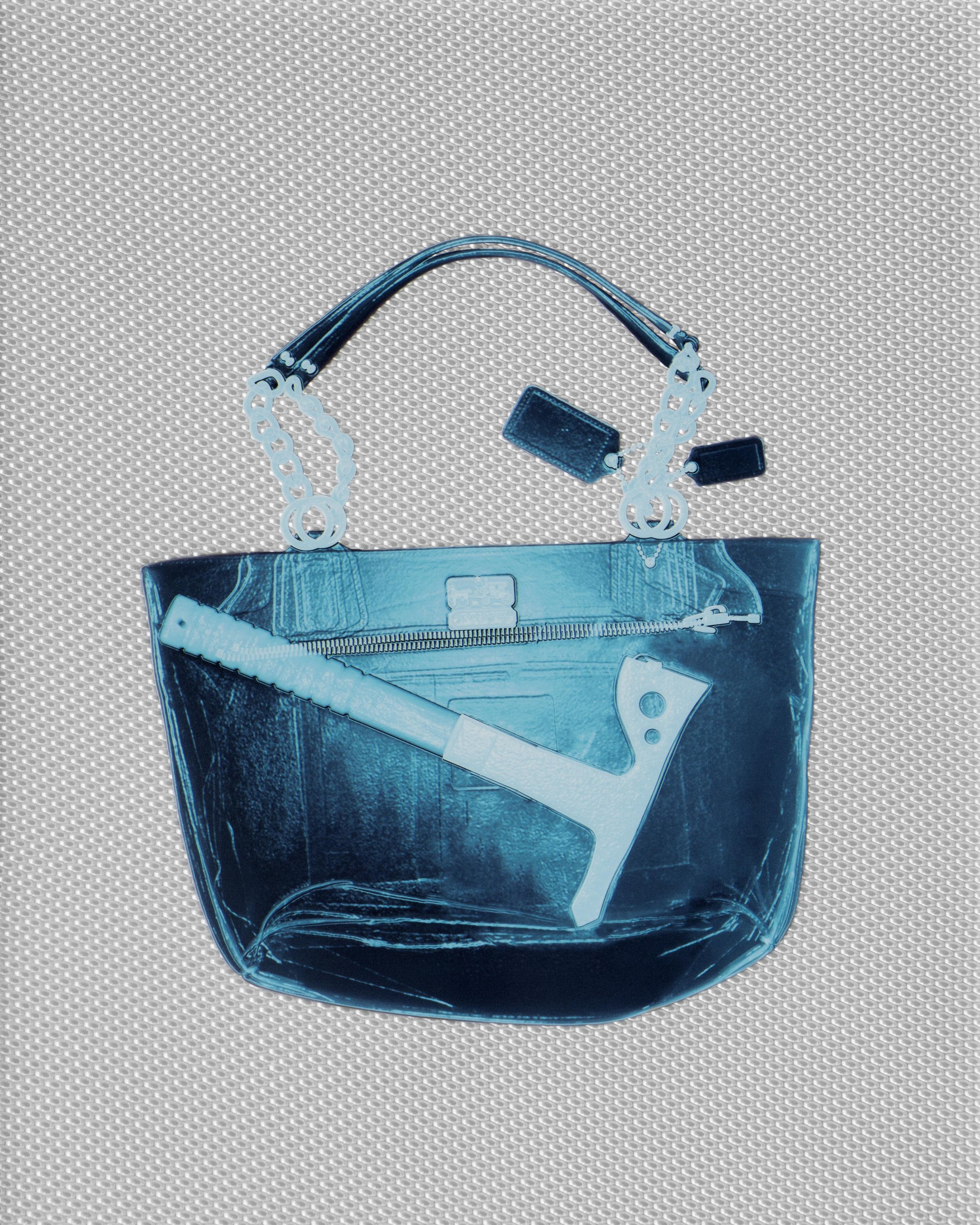 Aqua Coach Handbag with Hatchet