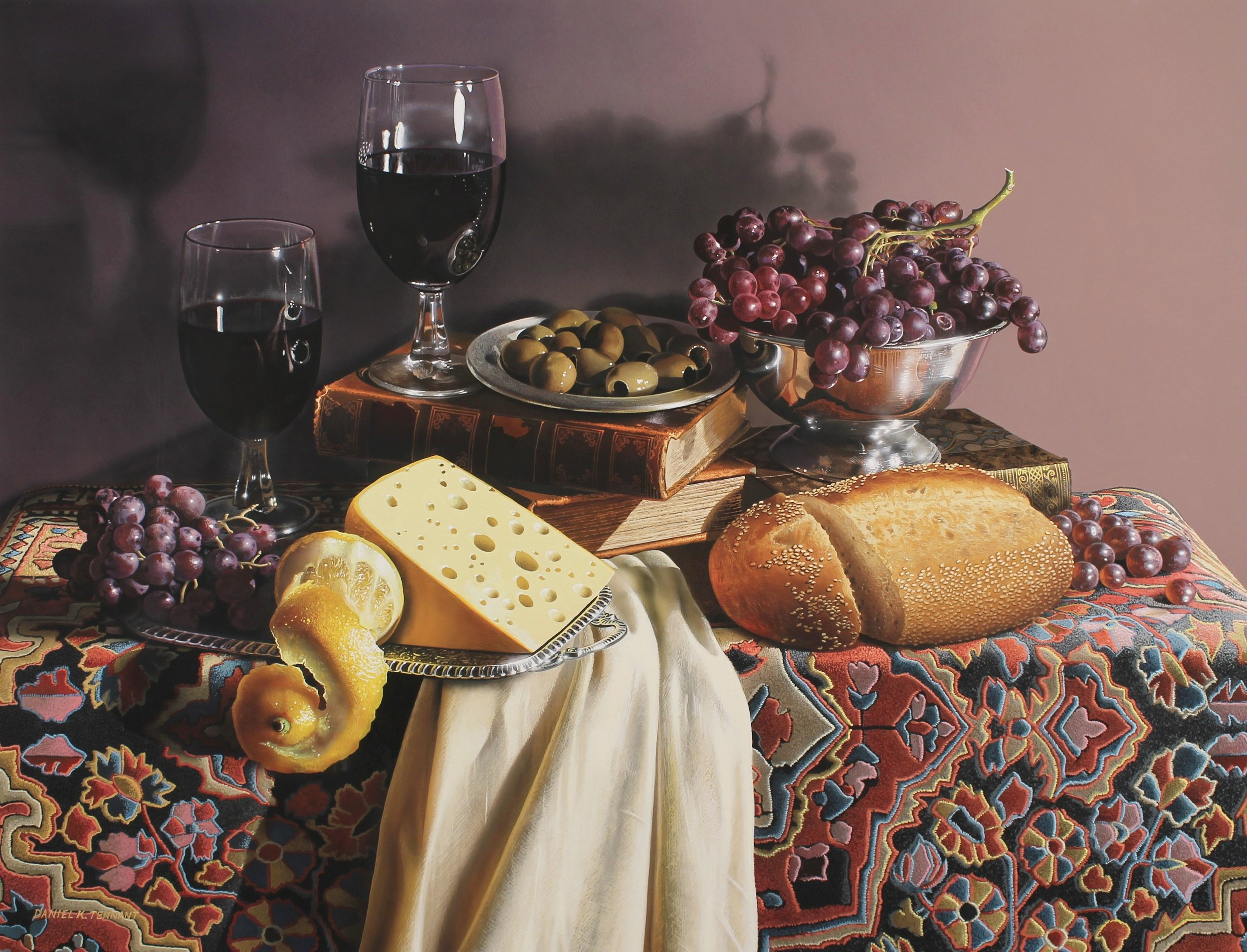 A Dutch Tribute Or Still Life With Grapes and Olives
