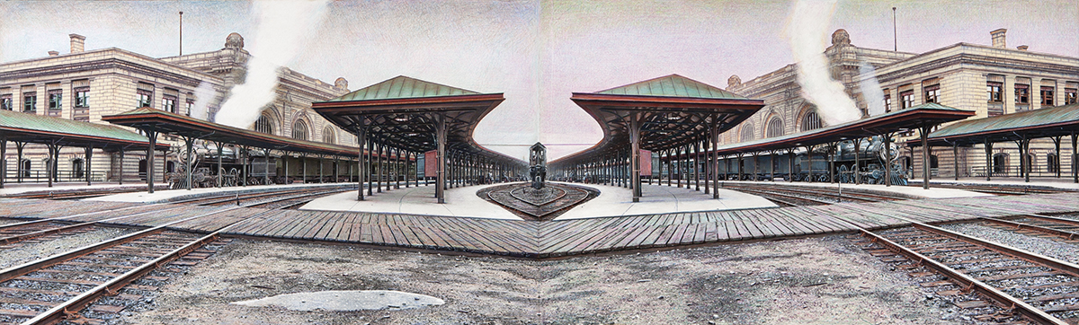 Mirrored Landscape for O. Winston Link