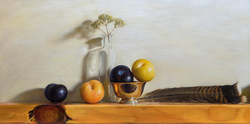 Still Life With Plumcots