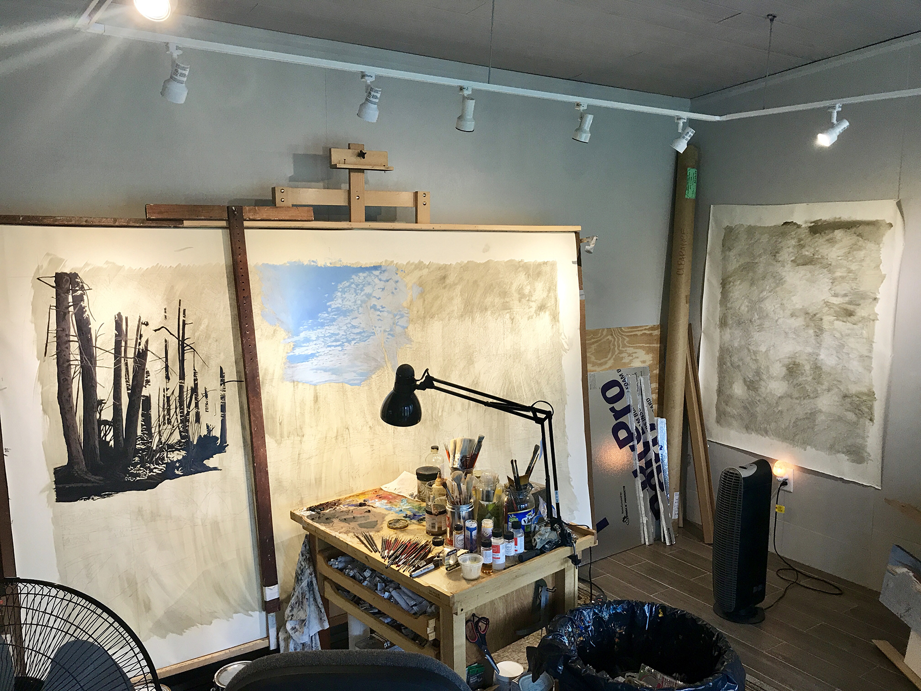 The beginning of  Return  and  Infinity,  in my Florida studio.