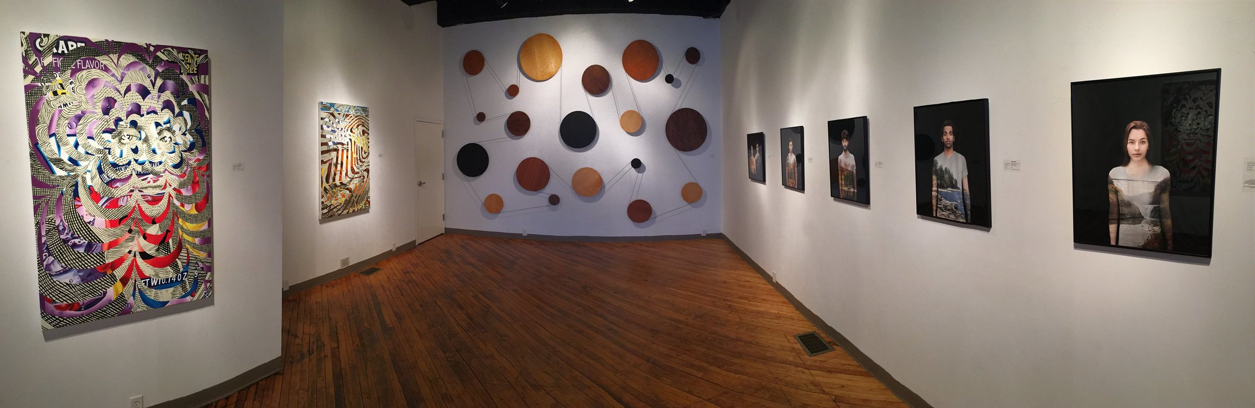 """Exhibition shot from """"A Cup of Sugar"""" at Anthony Brunelli Fine Arts"""