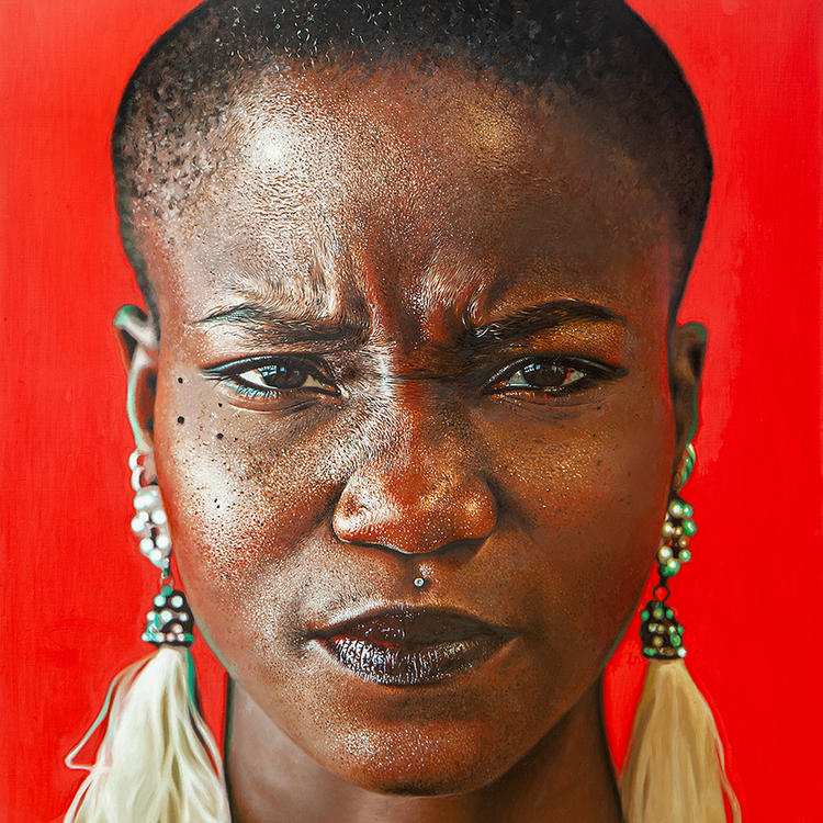 """Try and Stop Me , 2019, Oil on linen, 24""""x24"""".  Available"""