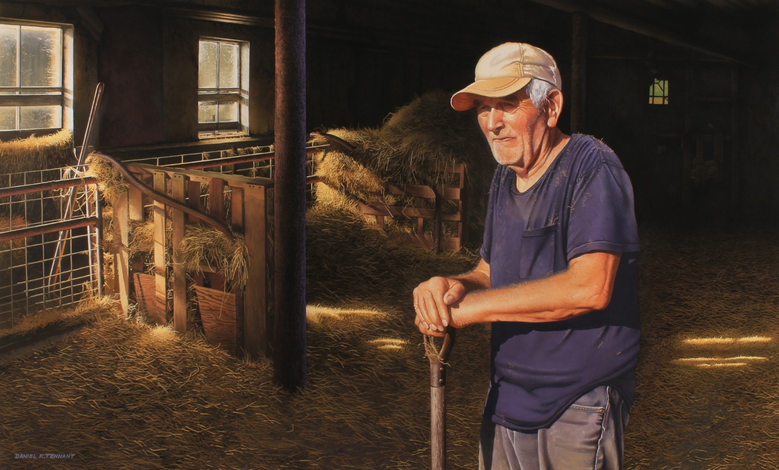 "On Aug. 2, New Woodstock resident and fine artist Daniel K. Tennant was awarded the grand prize in the 2019 Adirondacks National Exhibition of American Watercolors (ANEAW). Tennant received the $2,500 Beechmont First & Gold Medallion prize for his painting titled ""A Hard Working Man."" (Submitted)"