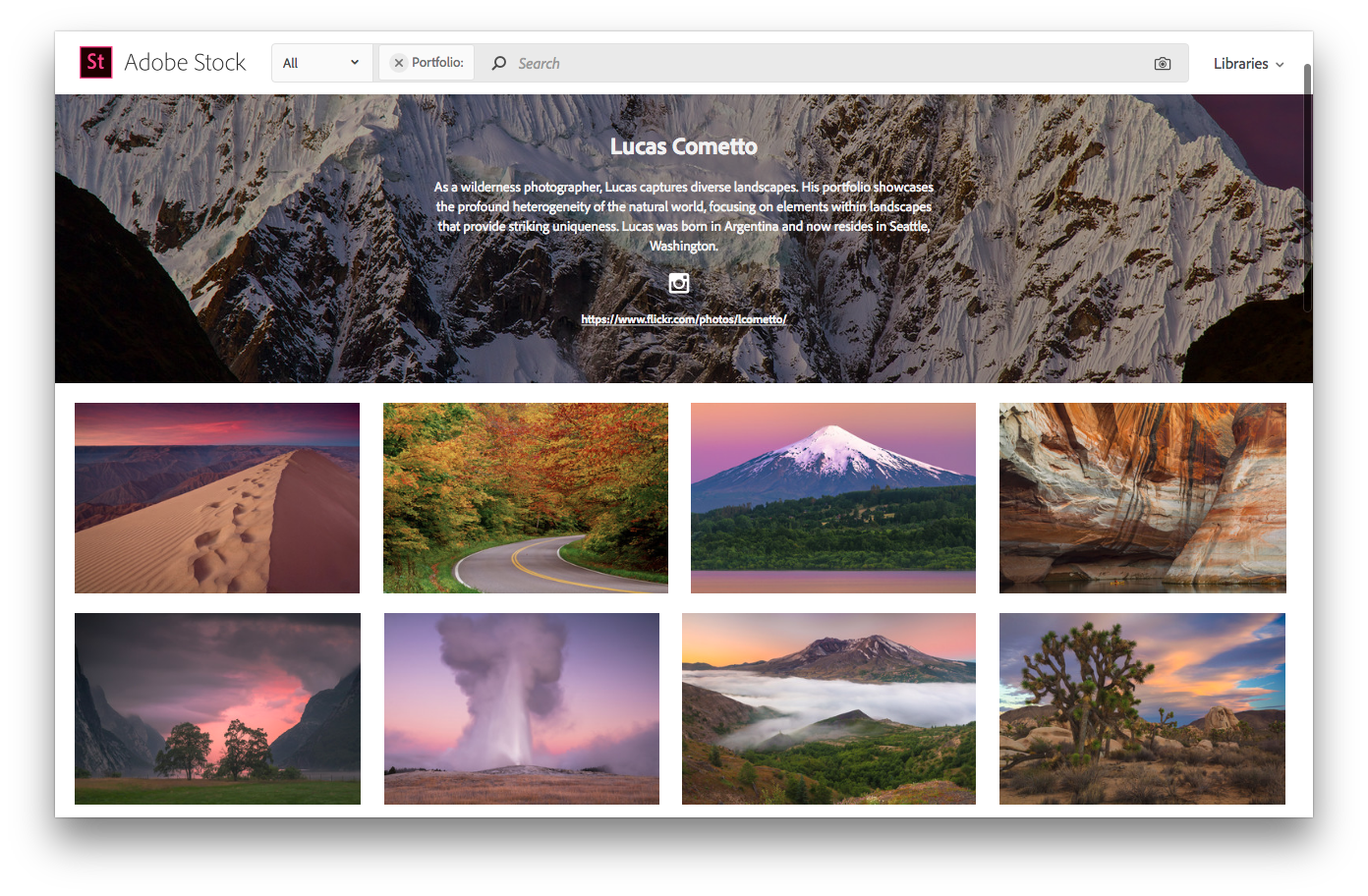 Adobe Stock Profile