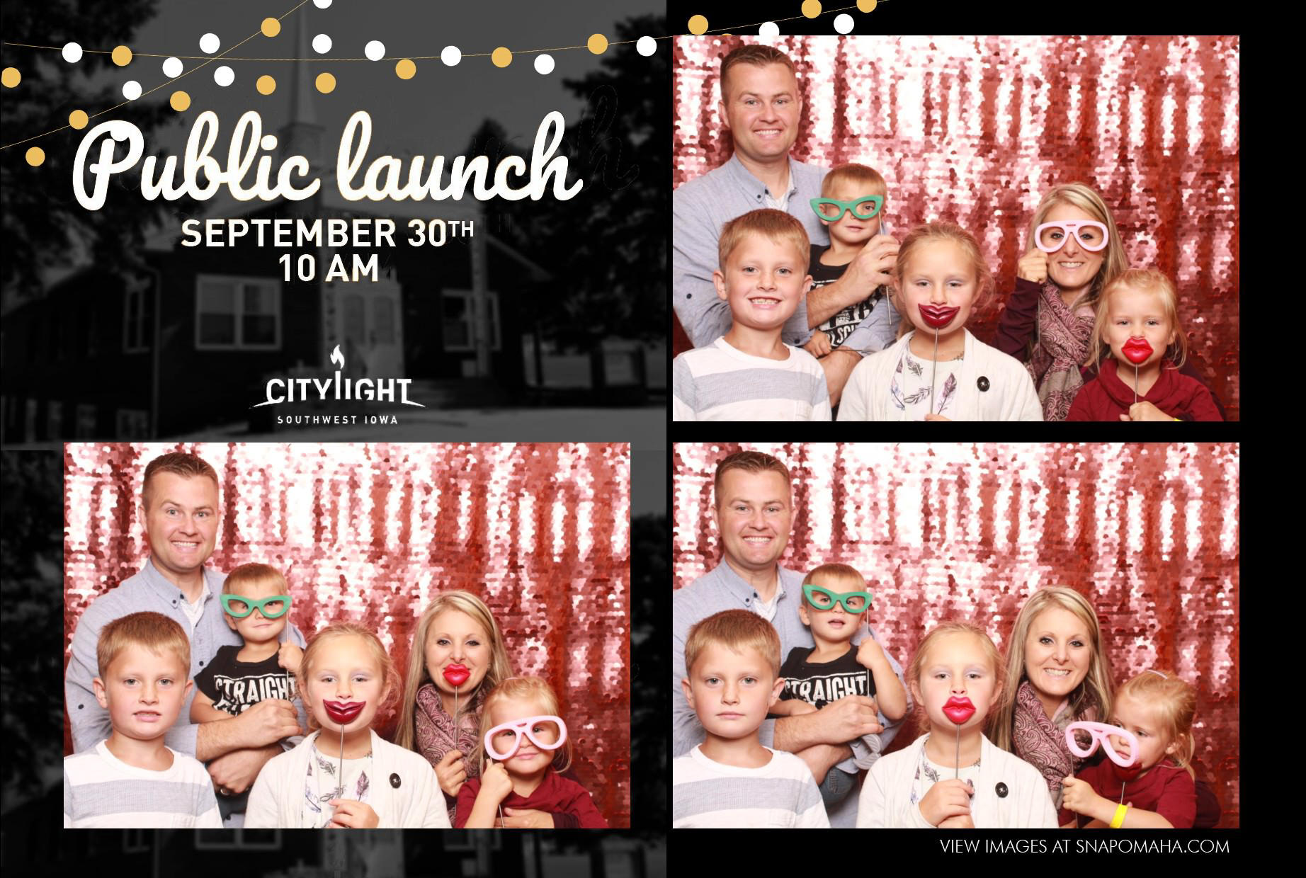 Citylight Southwest IA photo booth Snap omaha