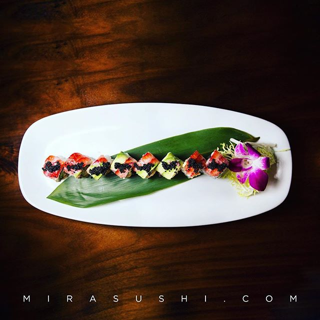 Great Specials are waiting for you at #mirasushiflatiron ❤️🙃 | SWEETHEART ROLL 😍 • Lobster Salad, Cucumber Topped w. Strawberry, Avocado, Black Tobiko, Strawberry Pinot Reduction 😎🙌🏼 • • • #flatiron  #sweets #heart #roll #nyc #sugar #extra #happycouples #friends #foodporn #rice #drinks #eatsnyc #foodies #wantnow #drinkup #drinkupnyc #picoftheday #instagood