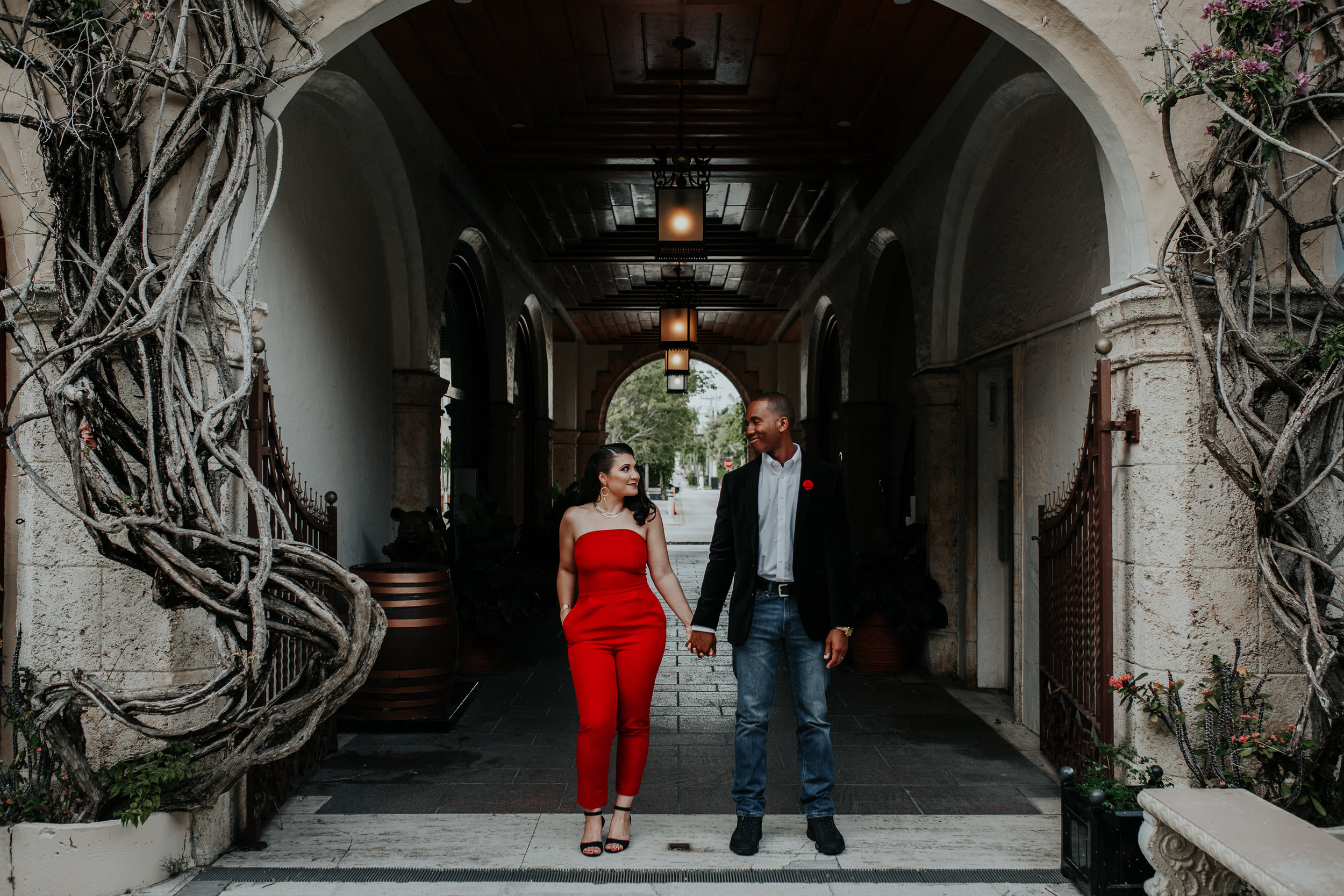 Sabrina & Bashaum - What do you do before your anniversary dinner? Get real dolled up and have a photo shoot, duh. I ran around West Palm Beach with these two and the pops of red were hotter than the actual temp in Florida, no lie.