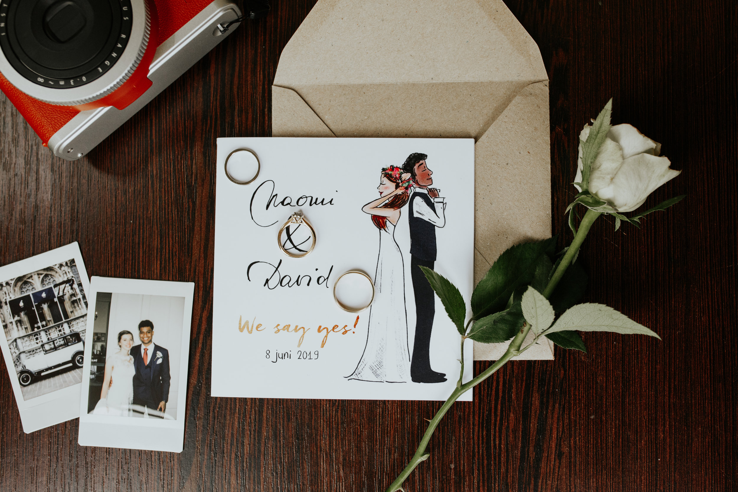 - Throughout the day, Naomi and David hosted a lunch for their beloved family, a religious ceremony complete with the entire room singing after the vows, and an all night party catered with a Belgian fry truck (YUM).