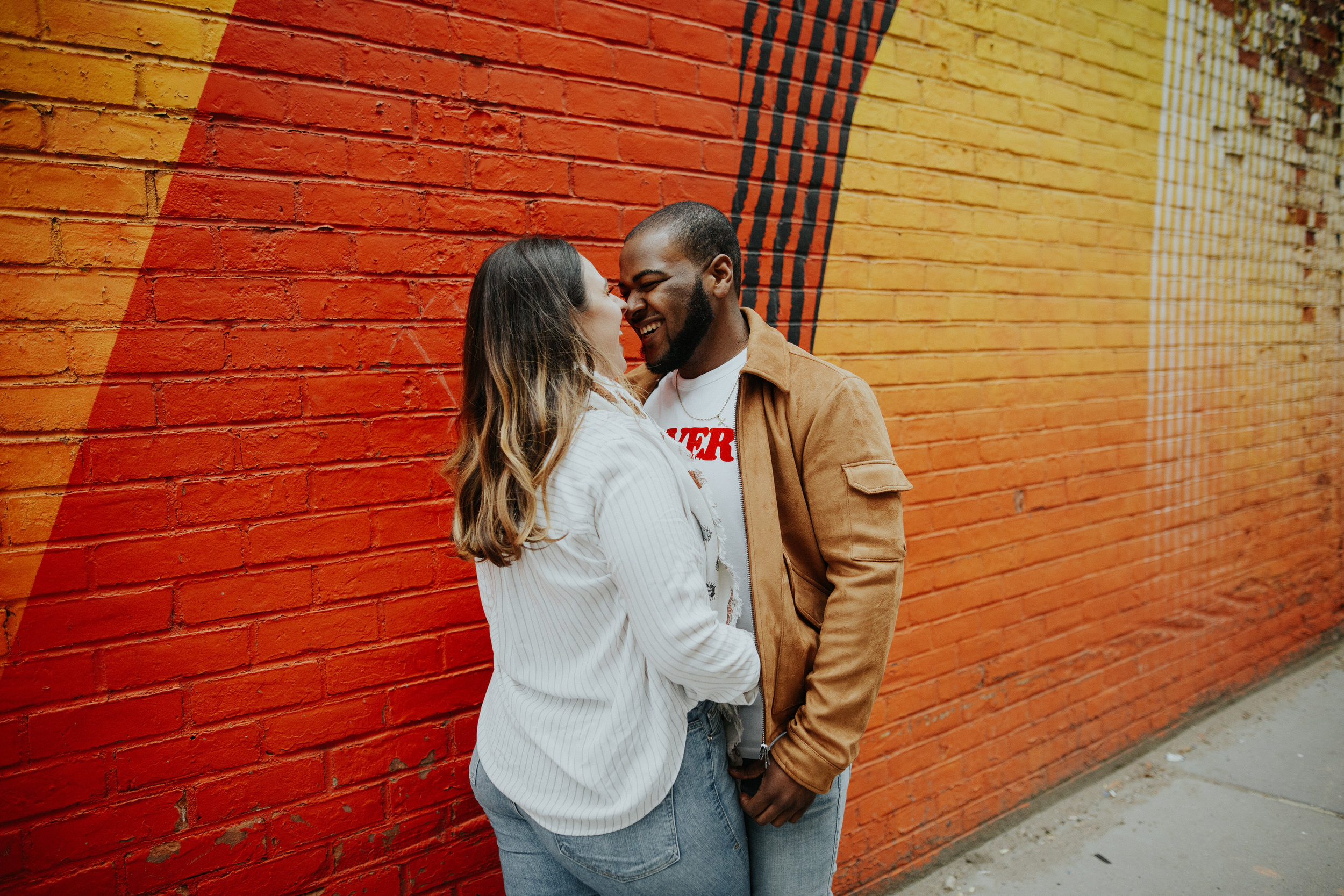 - These high school sweethearts are tying the knot in the heart of Tribeca, and wanted to include both Tribeca and DUMBO Brooklyn into their engagement session, to emphasize their favorite spots in the city that they adore so much.
