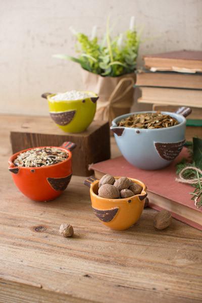 Ceramic Bird Prep Bowls