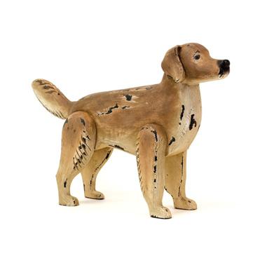 Happy Boy Wood Dog