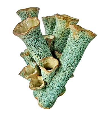 Green Coral Vase