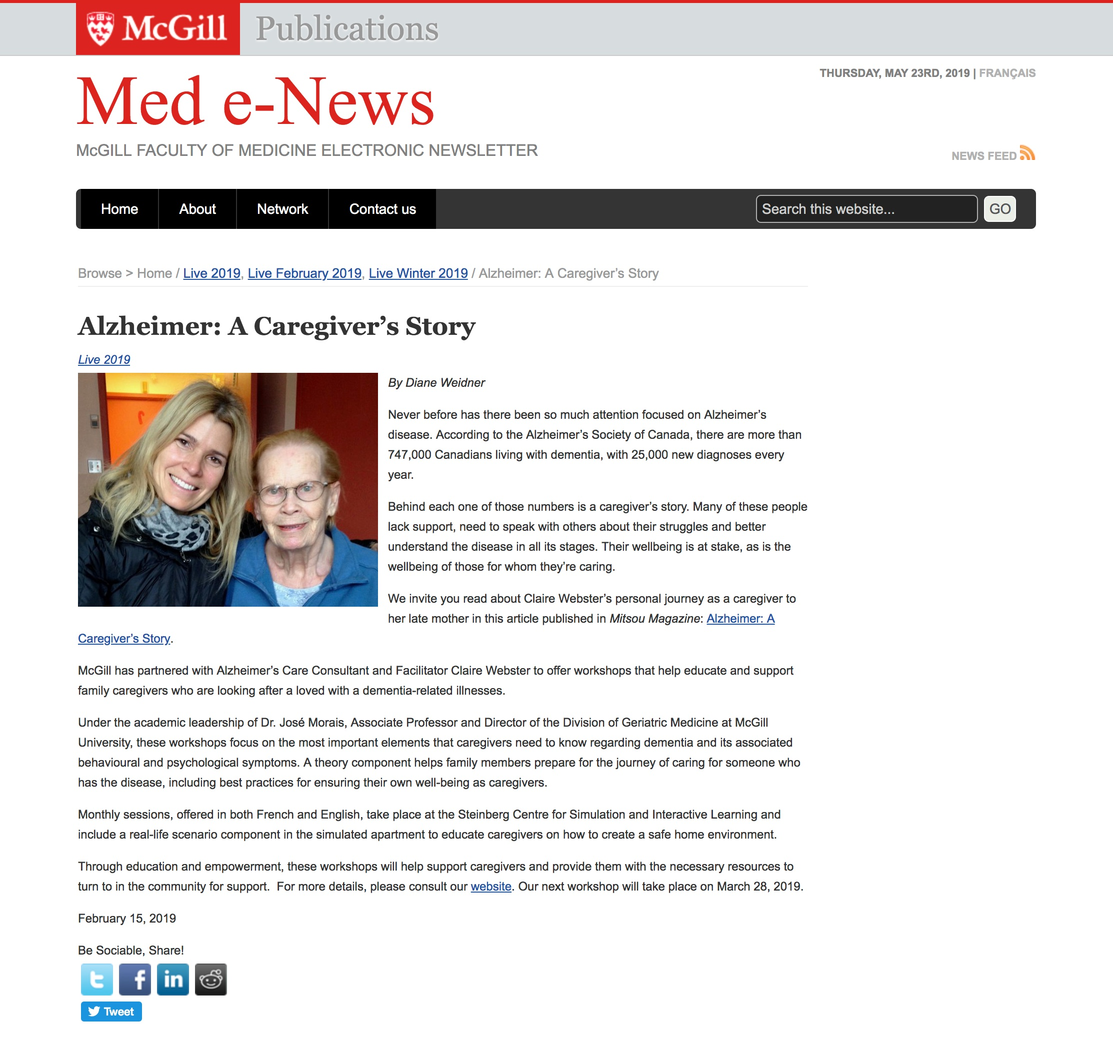 Publications McGill - Med e-News