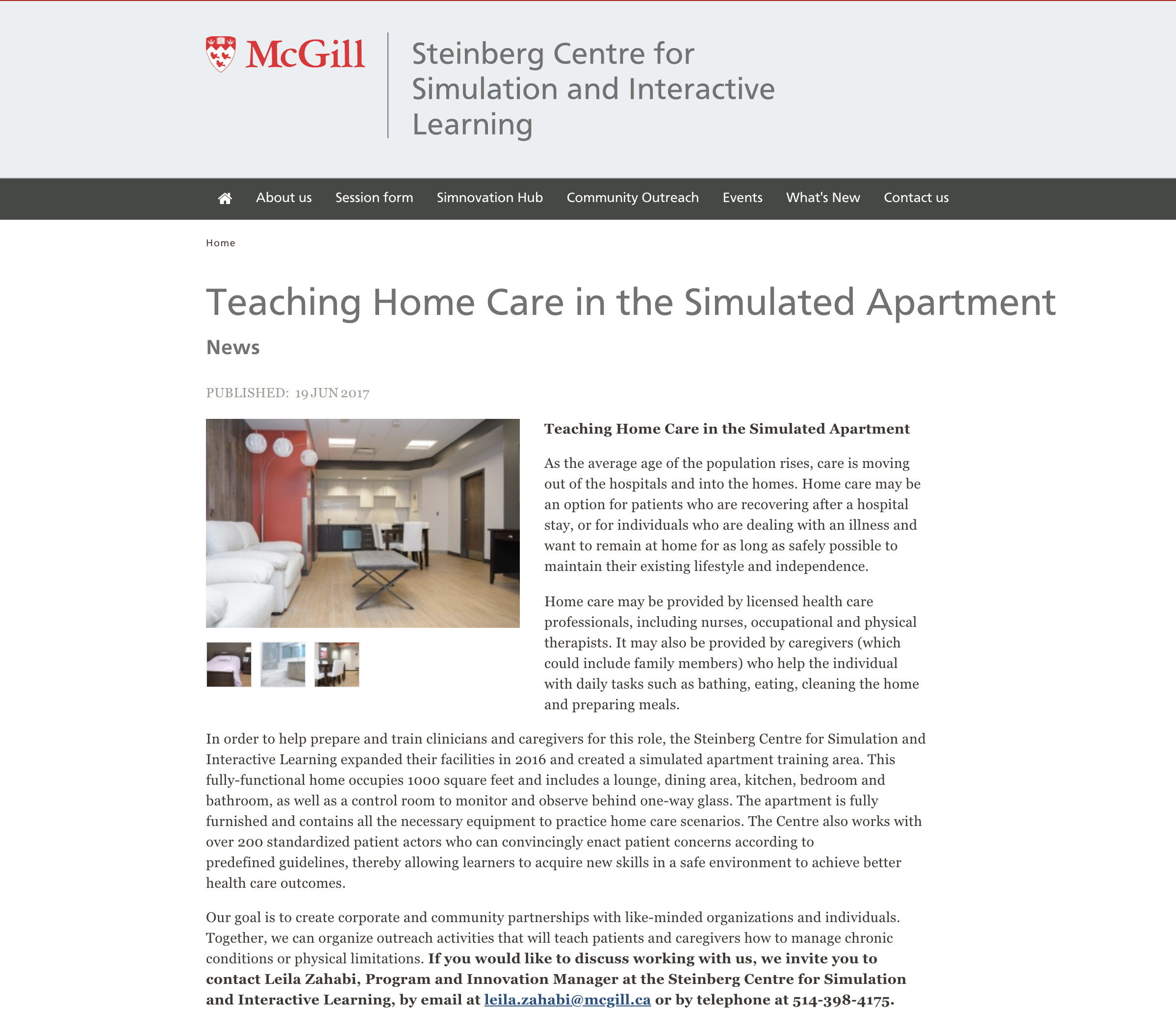McGill - Steinberg Centre for Simulation and Interactive Learning - Juin 2017