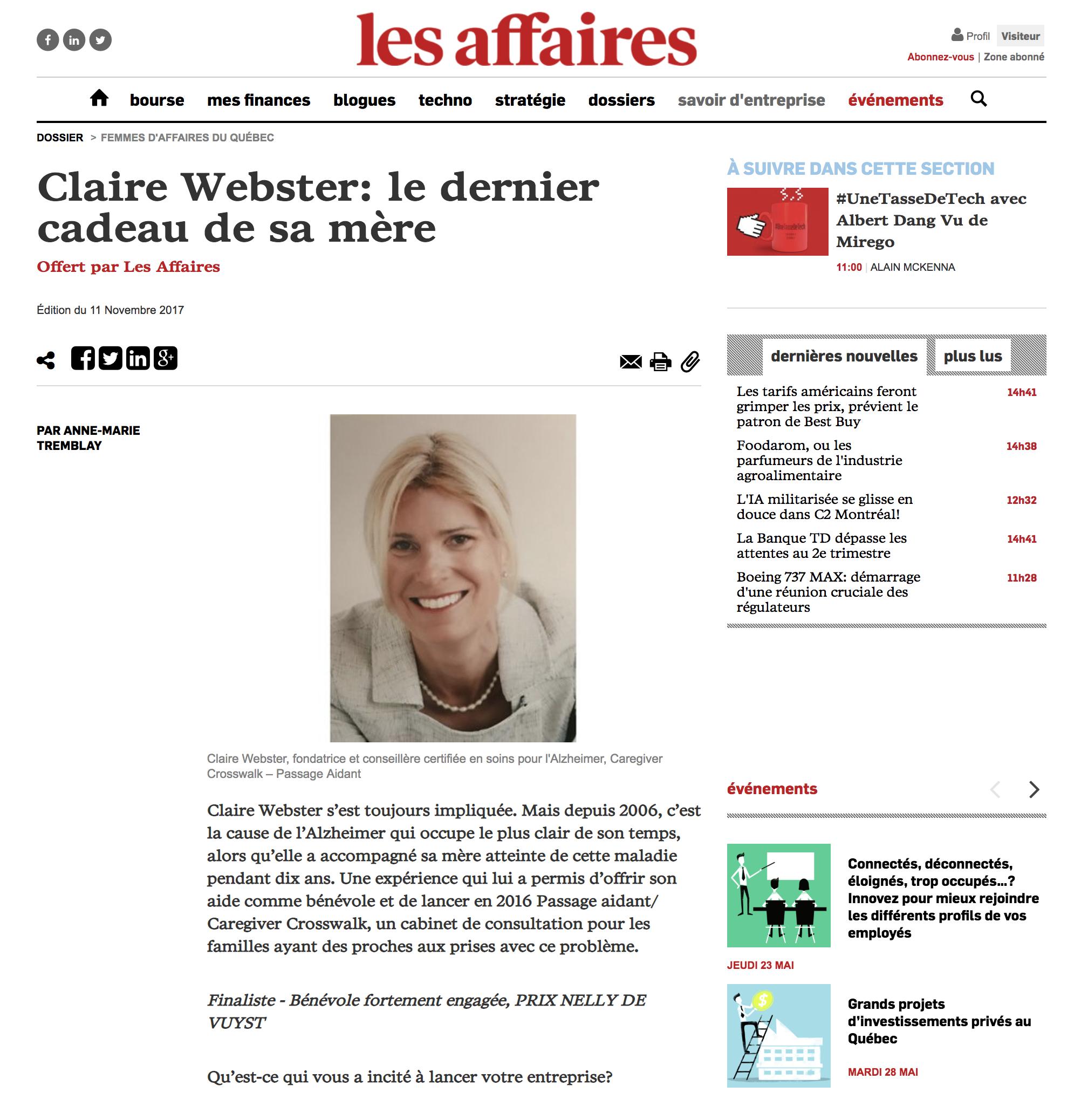 Les Affaires - November 2017