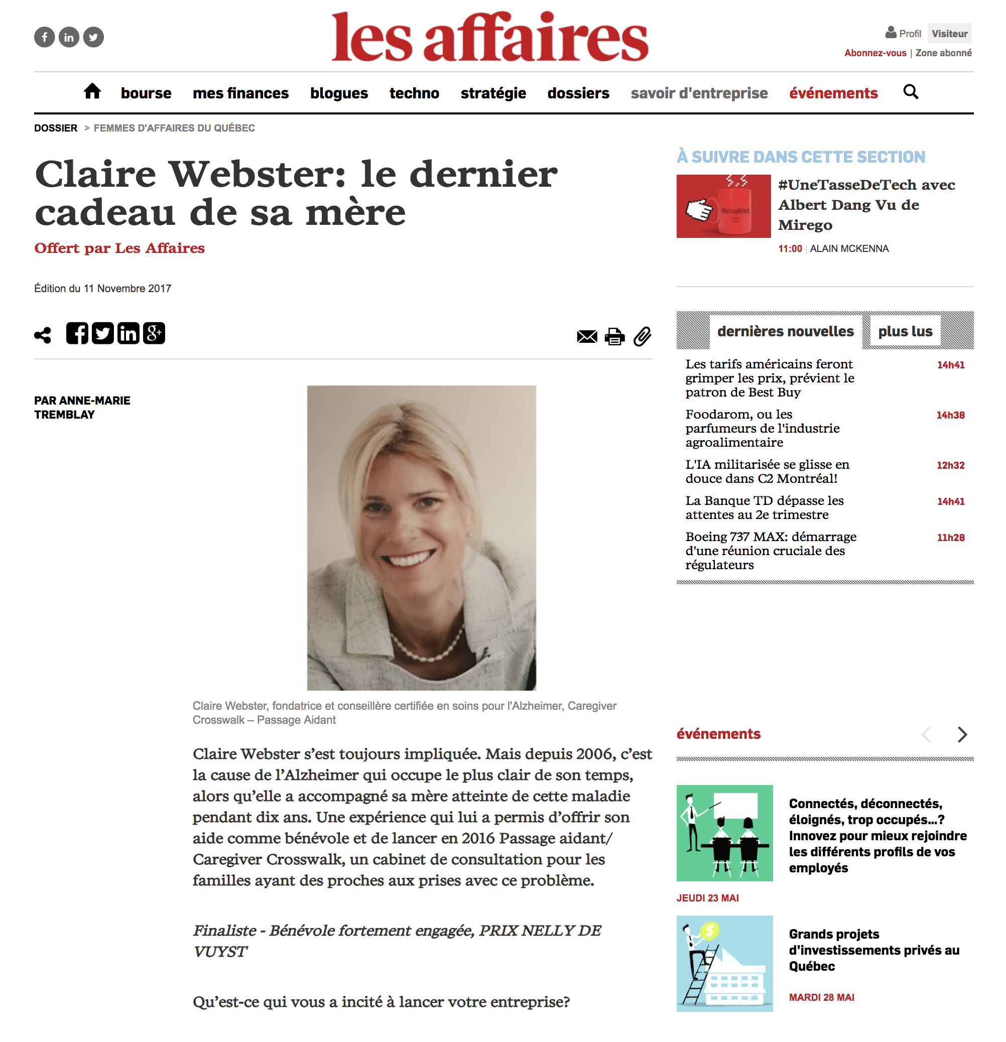 Copy of Les Affaires - 2017