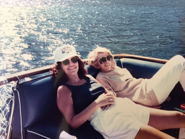 Beloved Joan Rivers and I relax on a boat in Lake Tahoe