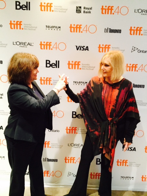 Kim and me on red carpet in Toronto