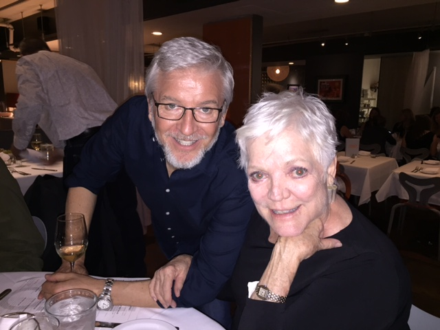 Chuck Yates and actress Valorie Armstrong at the after party of ART at TRIO Restaurant.