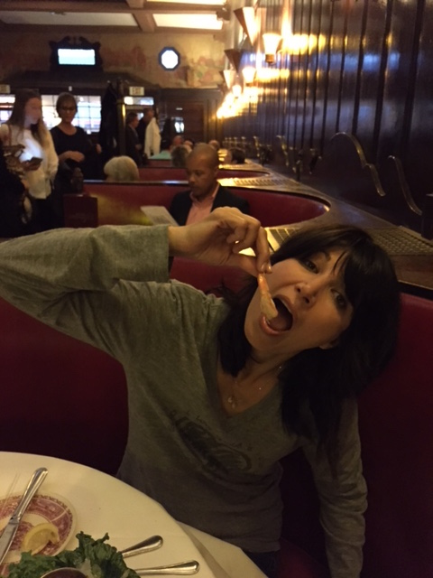Elizabeth Keener and I had a three-hour dinner at Musso's