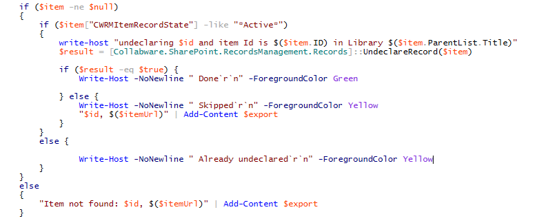 PowerShell to the rescue for undeclaring multiple records