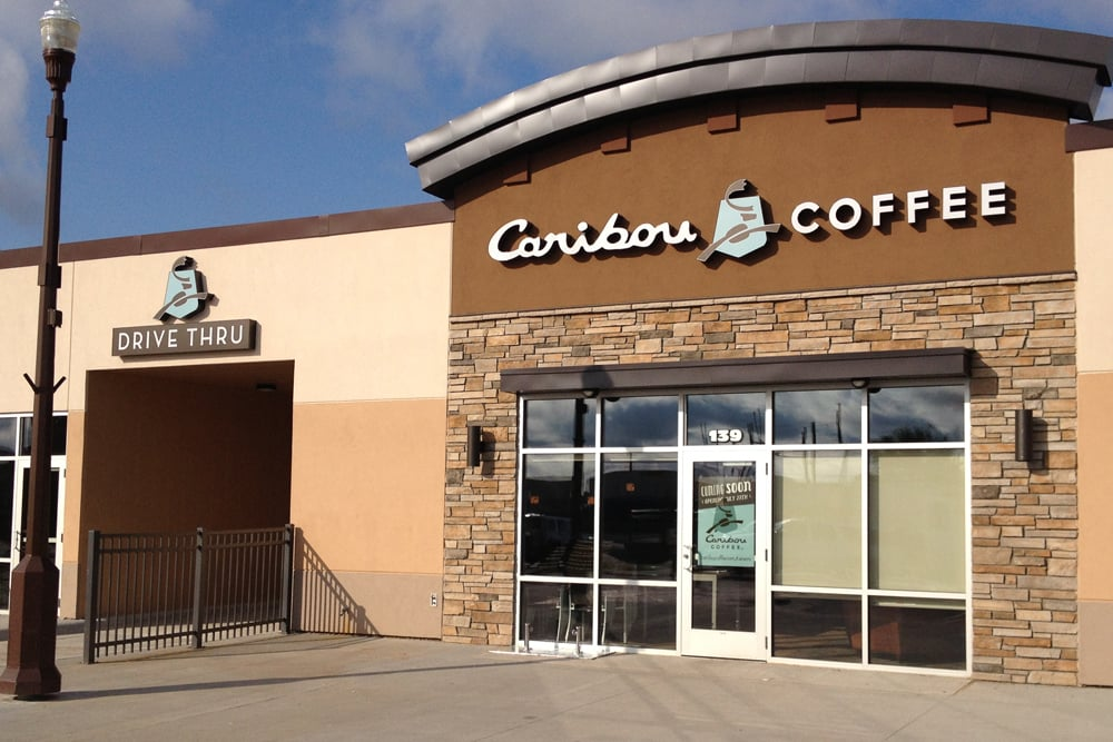 NOW OPEN!! - Local Eden Prairie, MN architecture firm Wilkus Architects designs new Caribou Coffee Location in Detroit Lakes, MN.