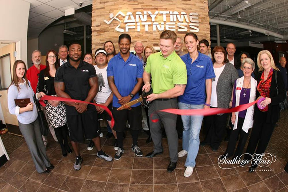 Now Open! - Wilkus Architects works with Anytime Fitness to develop it's latest location in Arlington, Texas.
