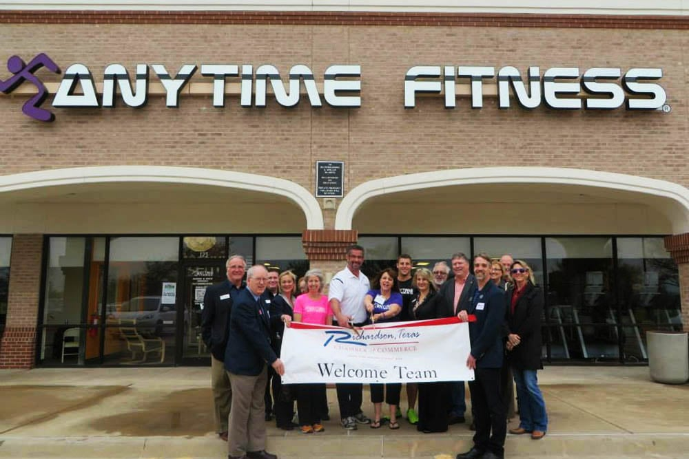 NOW OPEN! - Wilkus Architects works with Anytime Fitness to develop it's latest location in Richardson, Texas.