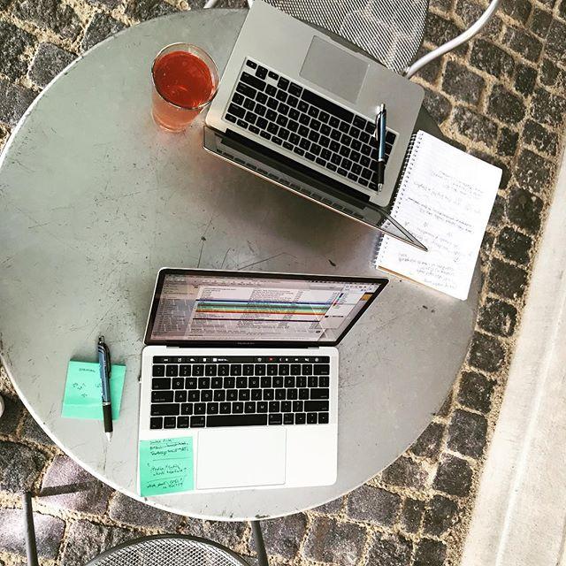 Summer meetings - enjoying it while we can. #duzlife #patiosrule #summertime