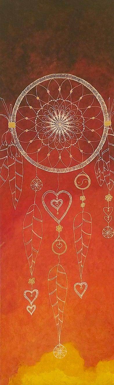 Orange Dreamcatcher by Lynn Hanford-Day